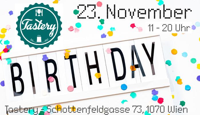 Tastery Geburtstagspunsch am 23. November 2019 in der Schottenfeldgasse 73